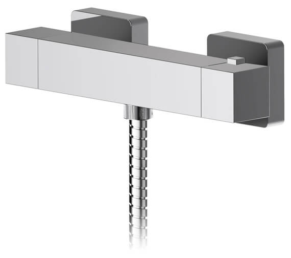 Nuie Sanford Thermostatic Bar Shower Valve With Bottom Outlet