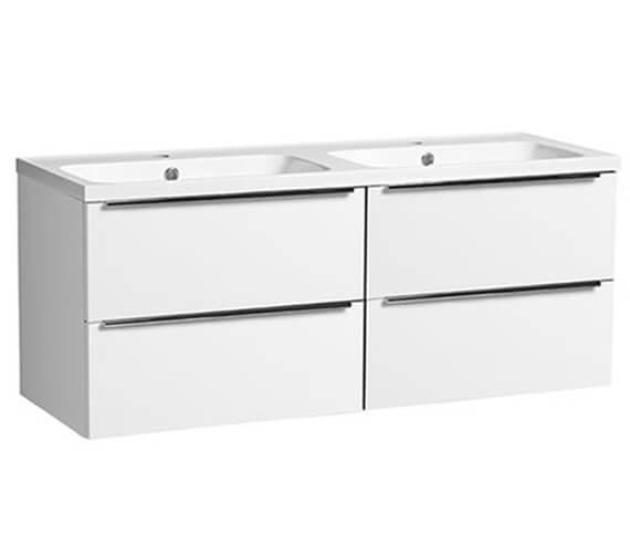Tavistock Cadence 1200mm Four Drawer Vanity Unit With Double Basin