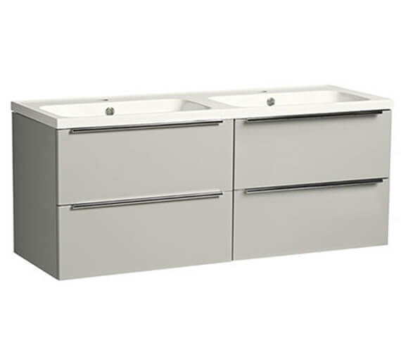 Additional image of Tavistock Cadence 1200mm Four Drawer Vanity Unit With Double Basin