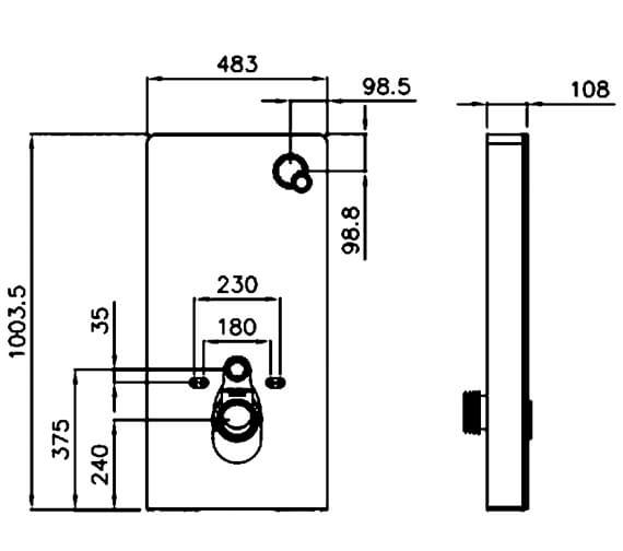 Technical drawing QS-V89603 / A81105-12