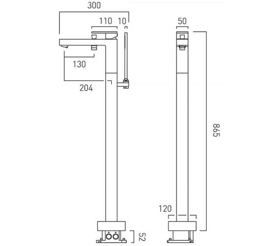 Technical drawing QS-V9435 / NOT-233-CP