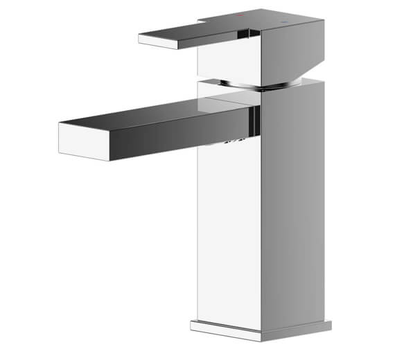 Nuie Sanford Deck Mounted Basin Mixer Tap With Push Button Waste