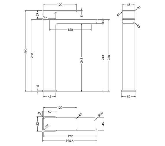 Technical drawing QS-V94170 / WIN370