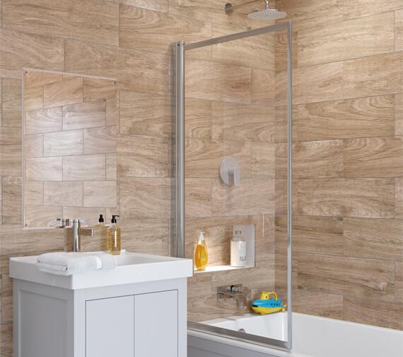 Lakes Classic Single Panel Framed Bath Screen