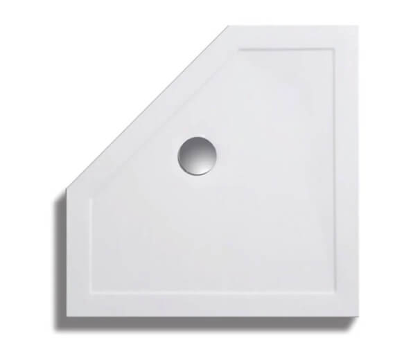 Lakes Contemporary Lightweight Pentagon Shower Tray 900 x 900mm