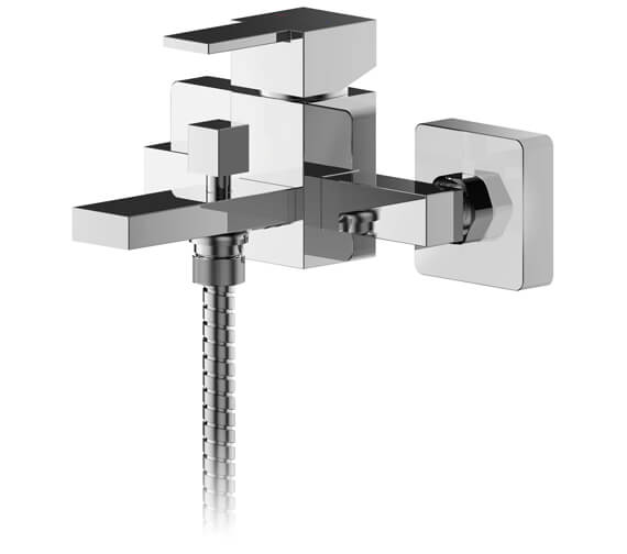 Nuie Sanford Wall Mounted Bath Shower Mixer Tap With Kit