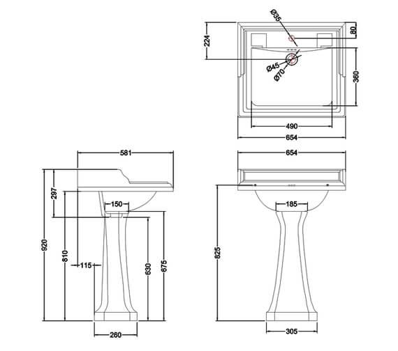 Technical drawing QS-V74011 / B151TH
