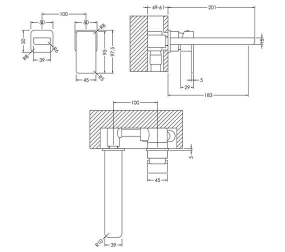 Technical drawing QS-V93994 / WIN381