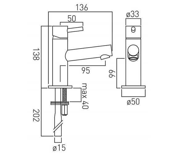 Technical drawing QS-V37172 / ZOO-100M/SB-C/P