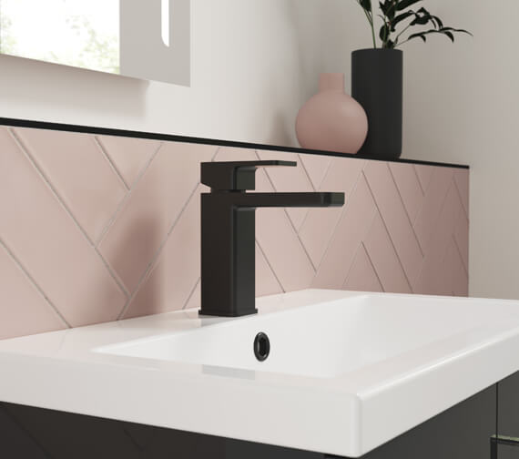 Alternate image of Nuie Windon Deck Mounted Basin Mixer Tap With Push Button Waste