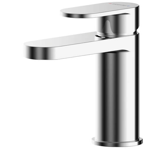 Nuie Binsey Single Lever Basin Mixer Tap With Push Button Waste
