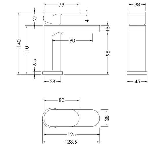 Technical drawing QS-V98604 / BIN315