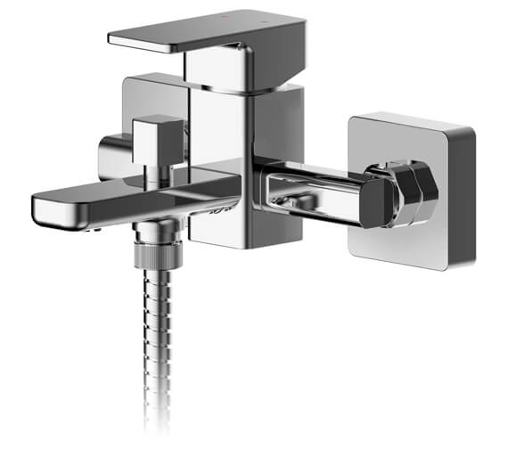 Nuie Windon Wall Mounted Bath Shower Mixer Tap With Kit