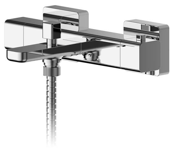 Nuie Windon Wall Mounted Thermostatic Bath Shower Mixer Chrome