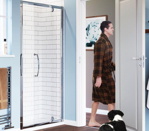 Lakes Classic Semi Frame-less Pivot Shower Door
