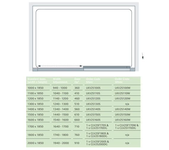 Technical drawing QS-V25087 / LKV2S100S