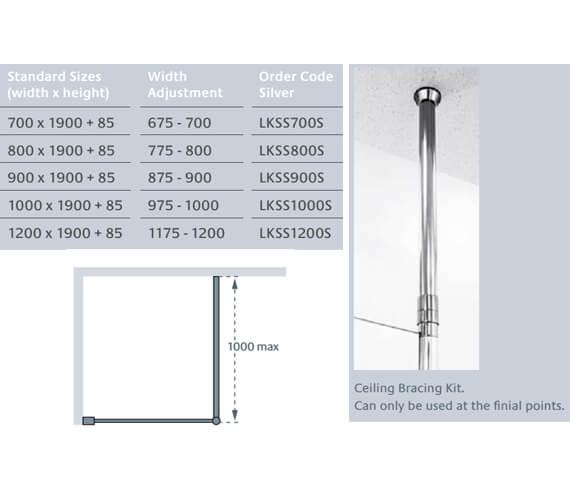 Technical drawing QS-V86216 / LKSS700S