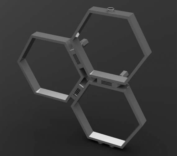 Additional image of Aeon Honeycomb Stainless Steel Designer Radiator