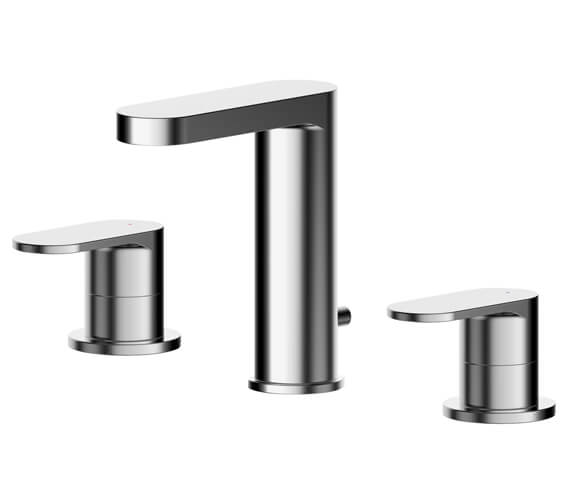 Nuie Binsey 3 Hole Basin Mixer Tap With Pop Up Waste