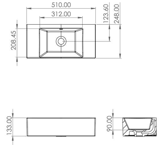 Technical drawing QS-V88191 / 39206