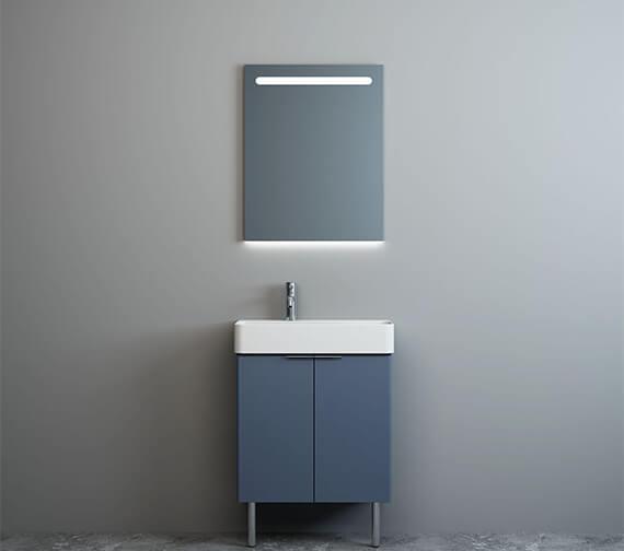 Alternate image of IMEX Blade Two Door Floor Standing Cabinet Short Projection