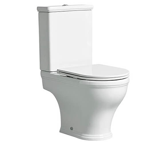 Tavistock Lansdown Short Projection Open Back Close Coupled WC Pan With Cistern And Seat
