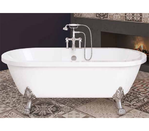 Royce Morgan Blenheim 1750 x 800mm White Freestanding Bath With Feet