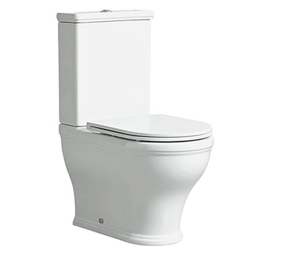 Tavistock Lansdown Short Projection Enclosed Close Coupled WC Pan With Seat And Cistern