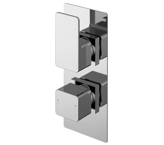 Nuie Windon 80 x 215mm Twin Thermostatic Shower Valve