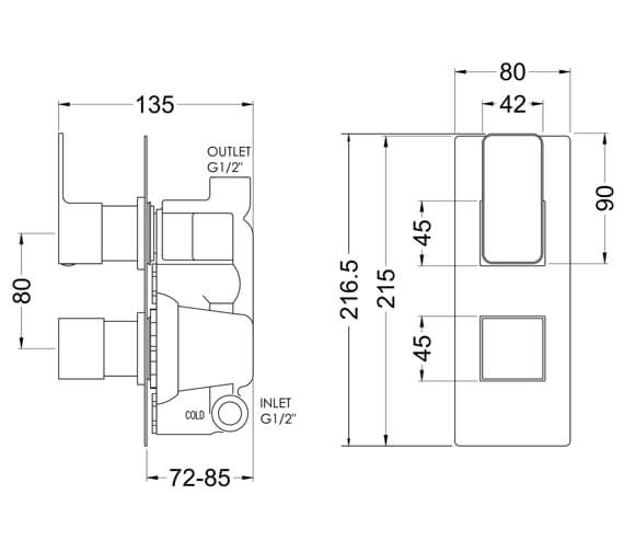 Technical drawing QS-V98568 / WINTW01