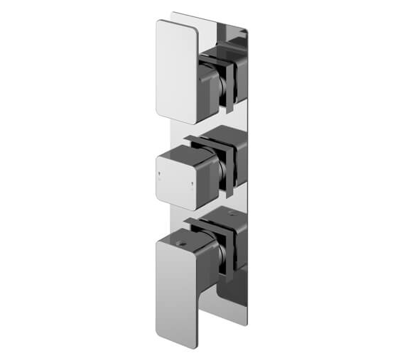 Nuie Windon 80 x 280mm Triple Thermostatic Concealed Shower Valve