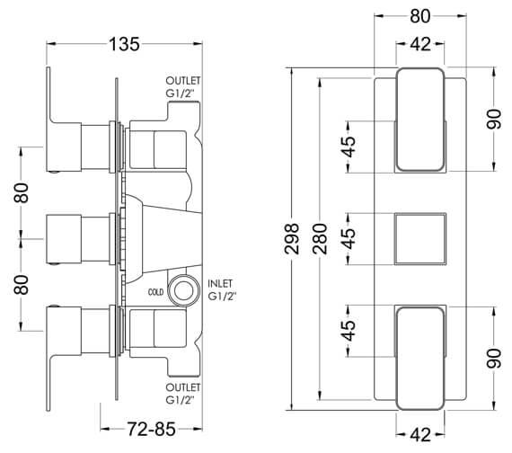 Technical drawing QS-V98569 / WINTR02