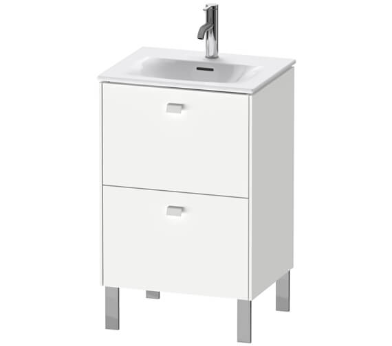 Duravit Brioso 520mm Floor Standing 2 Pull-Out Compartment Vanity Unit For Viu Basin