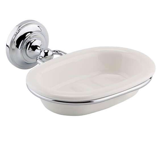 Nuie Traditional Soap Dish With Chrome Holder