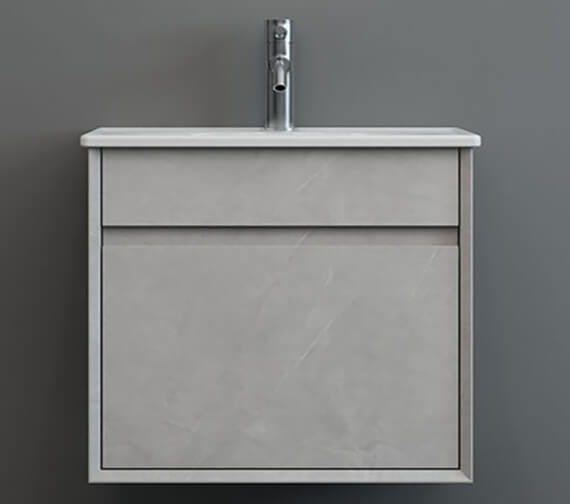 Additional image of IMEX Alma Wall Hung Single Drawer Cabinet