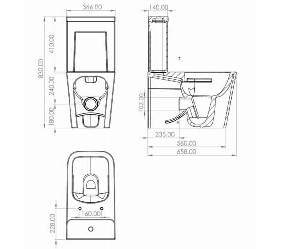 Technical drawing QS-V88155 / MACC01