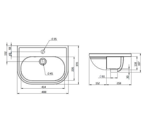 Technical drawing QS-V104337 / DC14045