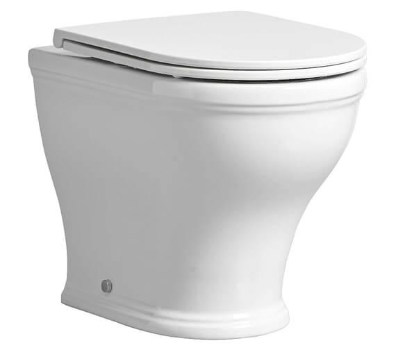 Tavistock Lansdown Back To Wall 490mm WC Pan With Soft Close Seat
