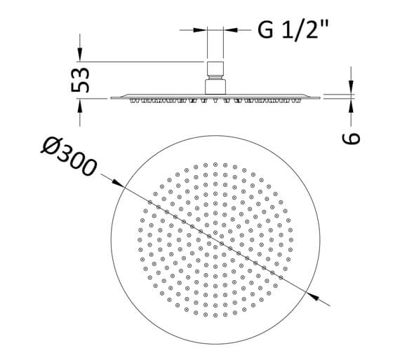 Additional image of Hudson Reed Round Fixed Shower Head