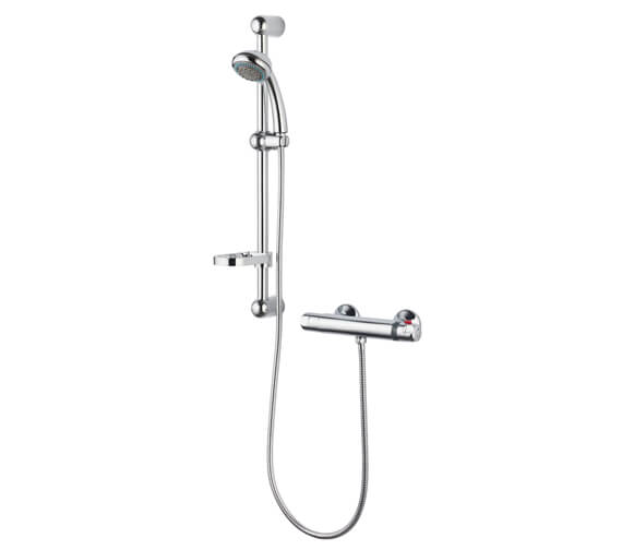 Nuie Dune Thermostatic Bar Shower With Slide Rail kit