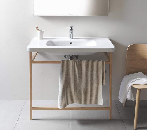 Alternate image of Duravit DuraStyle Floor-Mounted ACC Towel Rail For Washbasin