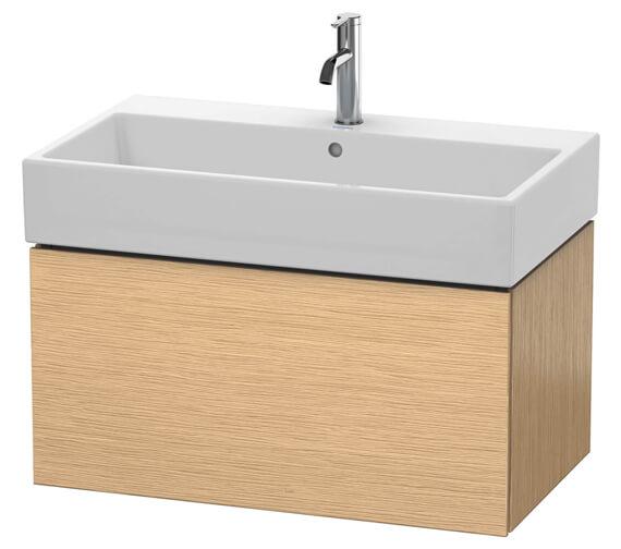 Duravit L-Cube 784mm Brushed Oak Wall Mounted 1 Drawer Vanity Unit