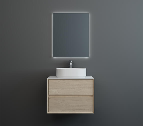 Alternate image of IMEX Grace Two Drawer Wall Mounted Cabinet In Natural Oak