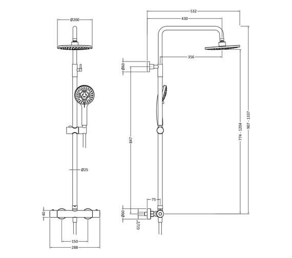 Technical drawing QS-V98588 / JTY475
