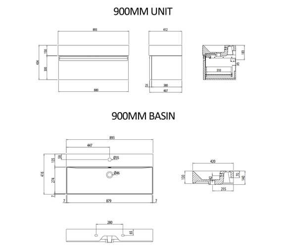 Technical drawing QS-V16523 / FR50WW