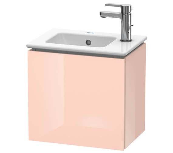 Duravit L-Cube 420mm Apricot Pearl High Gloss Wall Mounted 1 Door Vanity Unit