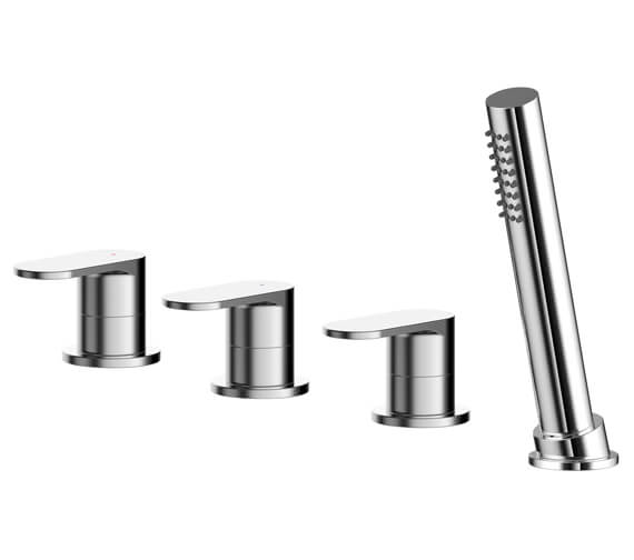 Nuie Binsey Deck Mounted 4 Hole Bath Shower Mixer Tap