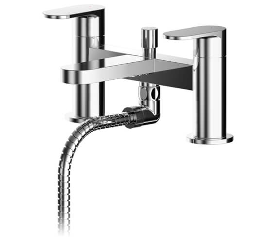 Nuie Binsey Dual Lever Deck Mounted Bath Shower Mixer Tap With Kit