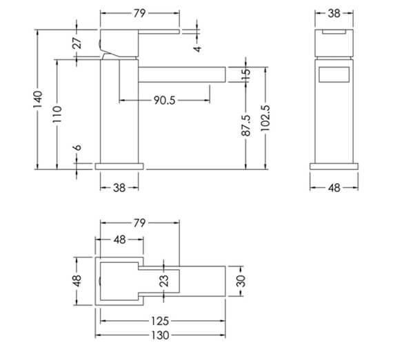 Technical drawing QS-V98589 / SAN315