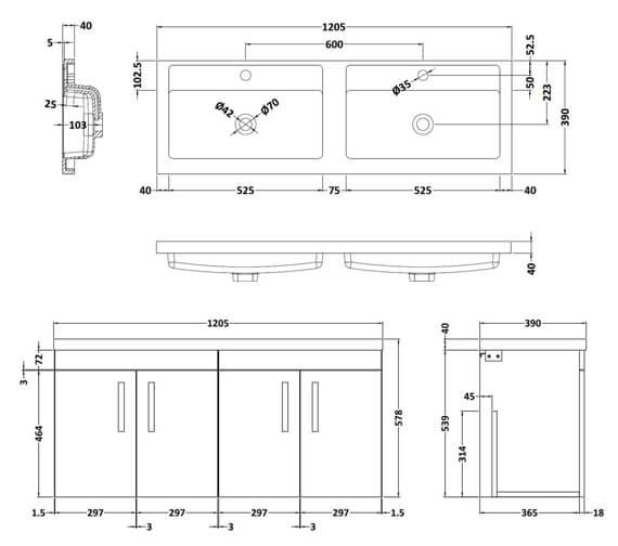 Technical drawing QS-V96175 / ATH095C